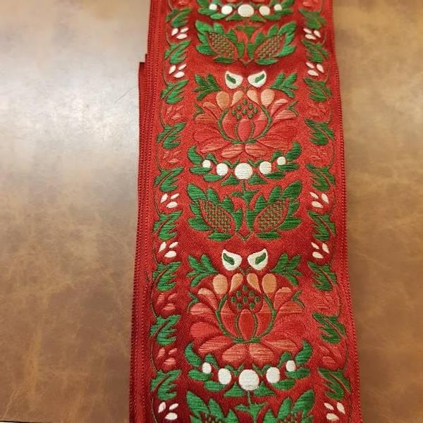 Bilde av Silkebånd folkedrakt rød