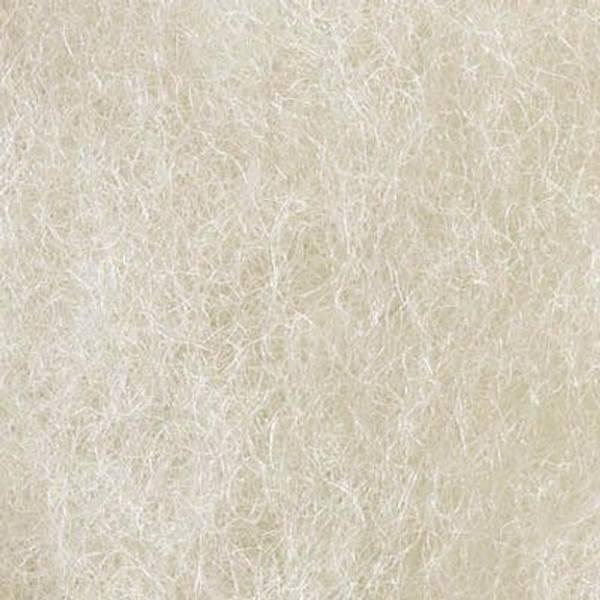 Bilde av Kardet uvasket ull, hvit 100g